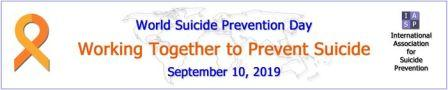 September 10 World Suicide Prevention Day: Working together to prevent suicide