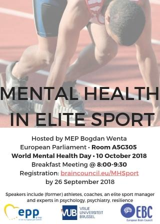 Efpa News Invitation Symposium Mental Health In Elite Sport At
